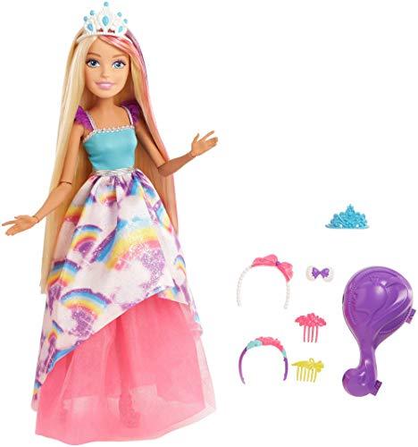 Barbie Dreamtopia, muñeca Gran princesa rubia, juguete +3 años (Mattel FXC80)