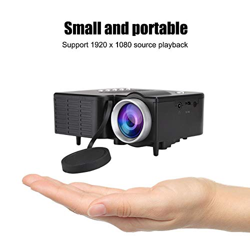 Mini Proiettore, 1920X1080 Videoproiettore Portatile LED Full HD Videoproiettore Home Theater HD Multimedia Lettore Film con AV USB TF Card Input Support MKV/AVI/MOV/MP4/TS/ASF/FLV/PMP per Viaggi, ecc