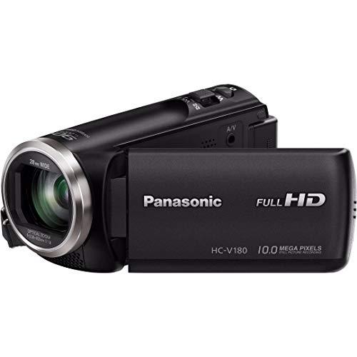 Panasonic Full HD Camcorder HC-V180K, 50X Optical Zoom, 1/5.8-Inch BSI Sensor, Touch Enabled 2.7-Inch LCD Display (Black) (Renewed)