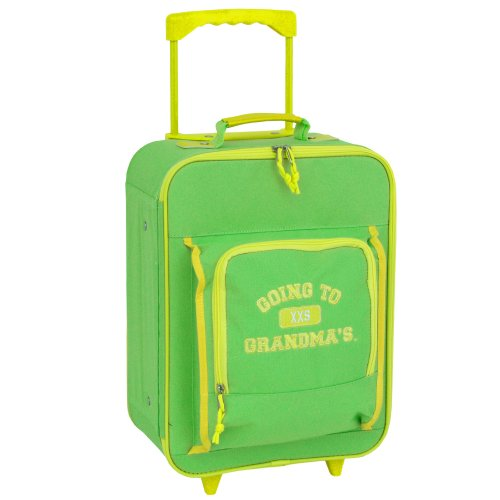 Mercury Going to Grandma's Wheeled Upright Childrens Luggage, Small, Green