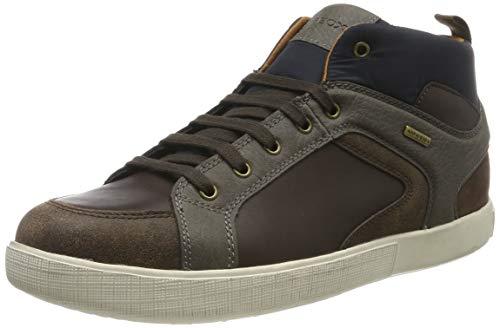 Geox U TAIKI B ABX A, Sneaker a Collo Alto Uomo, Marrone (Brown/Mud C6044), 43 EU