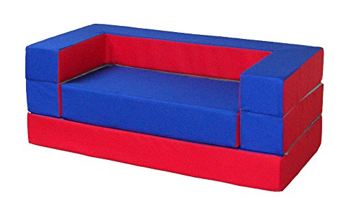 "Kindersofa Kindermatratze Spielsofa Spielzeug /""PUZZLE/"" 4in1 Rosa-Türkis"