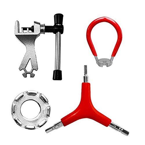 Llave de radios de bicicleta Herramienta de ajuste de cables Herramienta de radios Juego de 4 piezas Juego de ruedas Herramienta de ajuste de cables Juego práctico - Colorido 1 tamaño