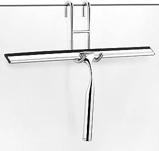 ecooe Myjka do kabiny prysznicowej ze stali nierdzewnej, przedłużona 31 cm, bez wiercenia, z zawieszką na ścianę, 2 zapaso...