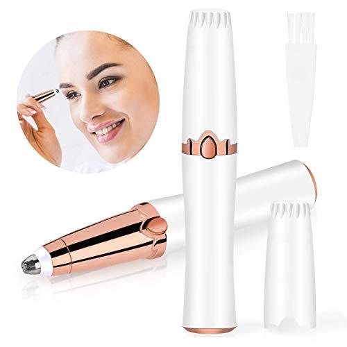 Depiladora Electrica Cejas, Kastiny Depiladora Facial Mujer, Portátil Depiladora Cejas con una Función de Luz LED, Pelusa del Melocotón, Los Labios, Biquini