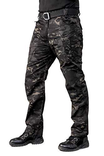 ANTARCTICA Mens Tactical Pants Water Repellent Ripstop Cargo Pants Military Army Combating Fishing Travel Hiking Casual Dark Camo