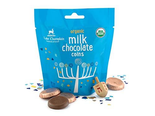 Lake Champlain Kosher Hanukkah Milk Chocolate Gelt Coins Gift Bag, 23 Pieces, 5.8 Ounces