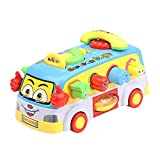yuwei Baby Toy Fun Bus Bump and Go Car, Play Music Lights, Early Education for 2-3 Year Old Girls Boys Toddlers