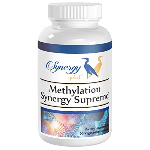 Methylation Synergy Supreme - MTHFR Support, 100% L-5-MTHF Folate, TMG, NAC, Doctor Recommended - 30 Day Supply VCaps by Synergy Gold