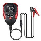 Probador de Bateria Coche, KKmoon Analizador Baterias 12v con probador AH/CCA y Analizador del Porcentaje de Vida útil de la Batería, Voltaje, Resistencia y Valor CCA