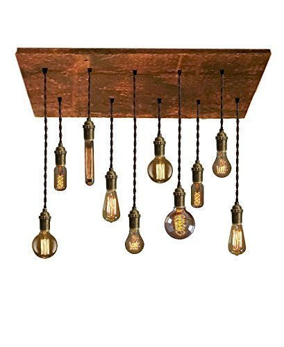 Amazon Com Reclaimed Wood Chandelier 10 Pendant Light Unique Lighting Modern Chandelier Rustic Light Custom Colors And Finishes Design Your Own Perfect For Any Dining Room Handmade