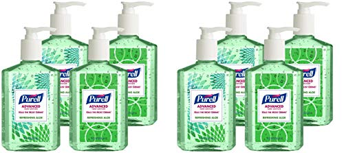 Purell 9674-06-ECDECO Advanced Design Series Hand Sanitizer, 8 oz Bottles (2 X Pack of 4)