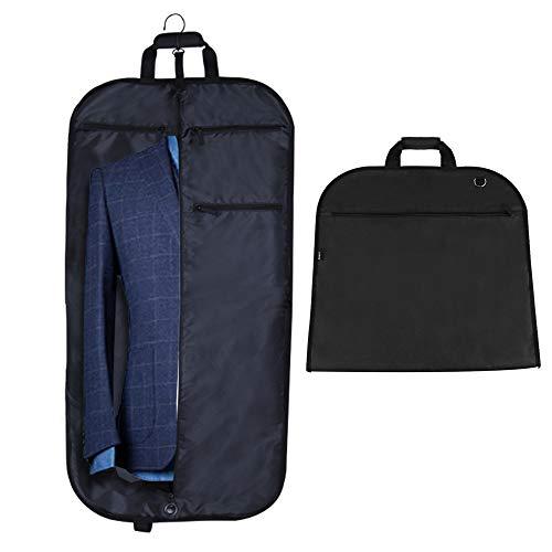 Anpro Anzugtasche Kleidersack mit Schuhbeutel, Anzughülle Kleiderhülle Anzugsack Hochwertig für Anzug und Kleid zum Reisen, 112cm x 57cm, MEHRWEG