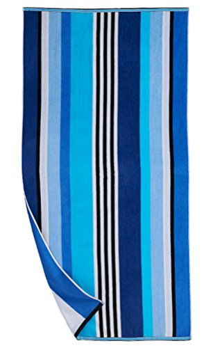 The Big One Large Beach Towel Reversible (Blue)