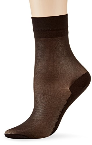 KUNERT Damen Cotton Sole Socken, 20 DEN, Schwarz (Black 0500), 39/42