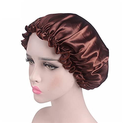 1 UNID Ajuste Ajuste SÓLIDO Satin Bonnet Pelo DE Pelo Corte Cuidado Largo Cuidado Mujer Noche Sombrero Sombrero Seda Cabeza Envolver Tapa de Ducha Herramientas de Peinado (Color : Violet)