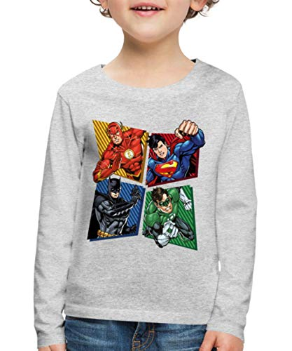 DC Comics Ligue De Justice DAmérique Héros T-Shirt Manches L