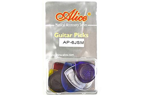 Alice アリス AP-6JSM ギター ベース ジャズ ピック プレクトラム パック全厚さ 透明な包み