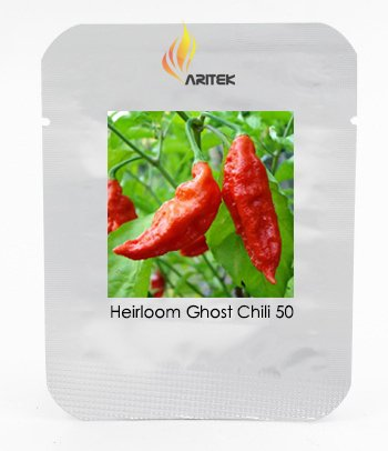 Heirloom Red fantômes Graines Piment, Professional Pack, 50 graines / Pack, Bhut Jolokia Pepper Bonsai Disponible e3108