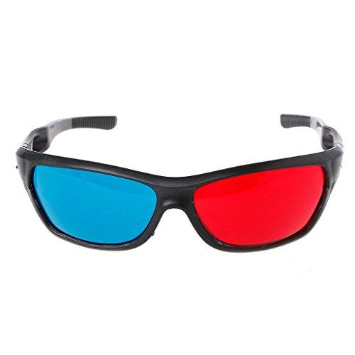 ZIRAN Universal White Frame Red Blue Anaglyph Gafas 3D para Juegos de películas DVD Video TV Gafas 3D, Gafas VR Blanco