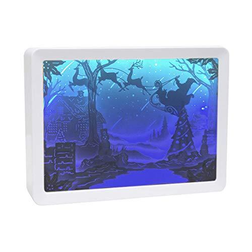 Miao Ledlamp met 3D-papier en kerstbox, met stereolicht, creatief van papier gesneden