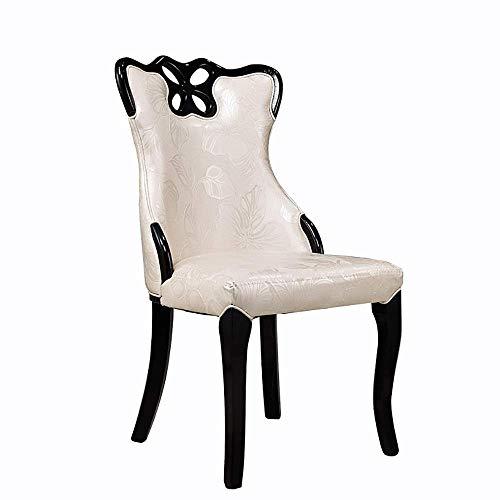 HYY-YY Silla de comedor de madera maciza 2 Sillas de comedor informal Silla de comedor arriba elástico esponja de la espuma artificial silla del asiento de cuero adecuado for sillas de bar del hotel d