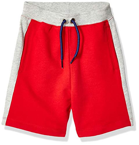 M.D.K Boys Double Knit Contrast Pocket Mesh Athletic Exercise Shorts