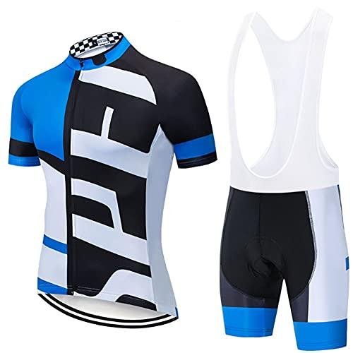 LILIS Chaqueta Ciclismo Hombre Ropa Ciclismo Verano para Hombre, Ciclismo Maillot Y Culotte Pantalones Cortos,Transpirable Y De Secado Rápido para MTB, Spinning, Bicicleta