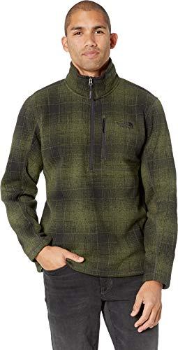 The North Face Men's Novelty Gordon Lyons Quarter Zip - Four Leaf Clover Ombre Plaid Print - M