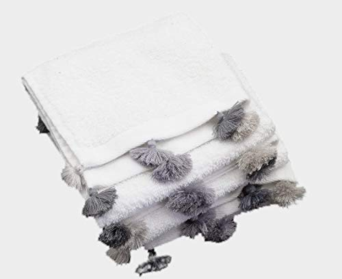 YVES Hamburg toallas de invitados con borlas de Marrakech para su baño de invitados (1)