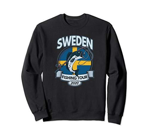 Sweden Fishing Tour 2020 Angeln Angler Geschenk Schweden Sweatshirt