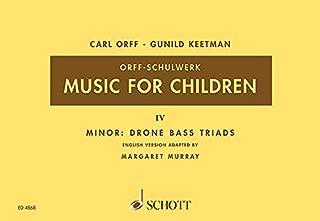 Music for Children/Murray Ed.: Volume 4: Minor - Drone Bass-Triads