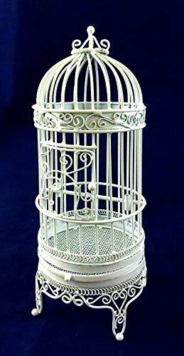 Maison De Poup/ées Miniature Animal De Compagnie Accessoire Fil Blanc En Fer Forg/é Suspendu Cage /À Oiseaux