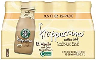 SCS Starbucks Frappuccino Coffee Drink - Vanilla - 9.5 Oz. - 12 Pk.