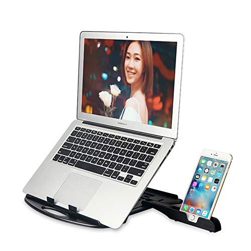 COOSKIN Ventilated Swivel Laptop Stand with Phone Holder Adjustable Height Chioce for All laptops (with Phone Holder)