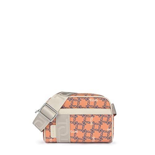 TOUS Logogram - Bandolera pequeña color naranja y beige
