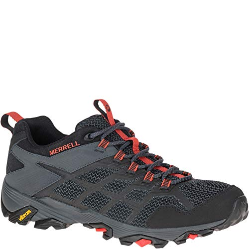 Merrell Men's Moab FST 2 Athletic Shoe, Black/Granite, 8 M US