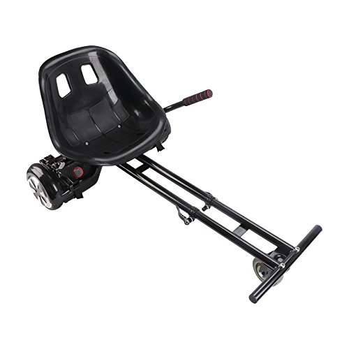KOOWHEEL Hover - Asiento hoverkart de 2ª generación para hoverboard Smart Balance Wheel Hoverseat de 6,5 y 8 pulgadas, para jóvenes y adultos, color negro