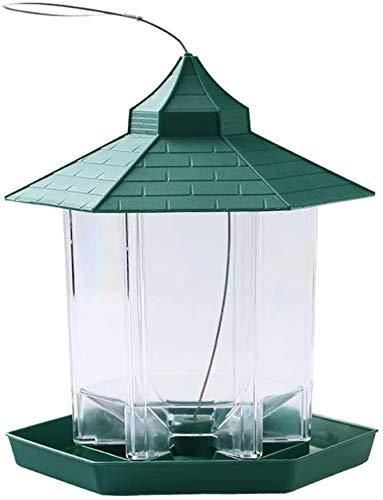 El nuevo comedero para pájaros colgante Gazebo comedero para pájaros silvestres,con comedero para pájaros colgante en el techo,contenedor de plástico para alimentos para pájaros al aire libre