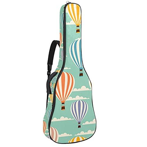 Bolsa de guitarra acústica impermeable Guitarras mochila gruesa suave acolchada clásica caja de guitarra colorida globo de aire caliente