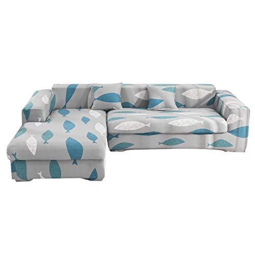 NOBCE Funda de sofá elástica elástica 1/2/3/4 plazas Fundas de sofá para sofás universales Funda seccional en Forma de L para sofás universales 190-230CM