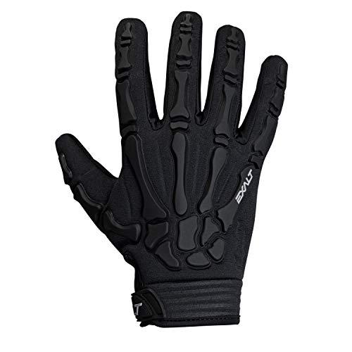 Exalt Death Grip Paintball Glove - Full Finger Skeleton Hand Glove with Bones (White, Small)
