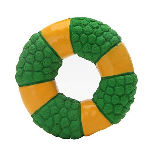 Latex Rettungsring Hundespielzeug Welpen Klingendes Spielzeug Beißwiderstand Saubere Zähne Interaktives Training Haustierbedarf for Hunde, Zwei Farben (Color : Green)