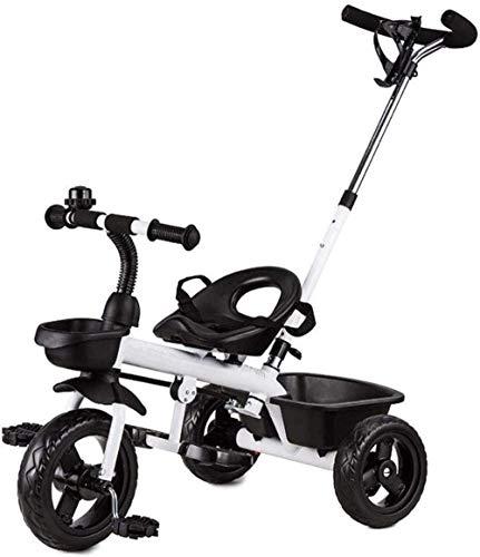 Kindertrikes peuter fiets peuter driewieler met drukknop handvat verstelbare hoogte duwen rit driewieler 2-in-1 duwen en rijden wandelwagen driewieler