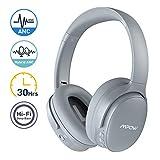 Mpow Hybrid Noise Cancelling Headphones, Hi-Fi Deep Bass Bluetooth Headphones Over Ear, Wireless