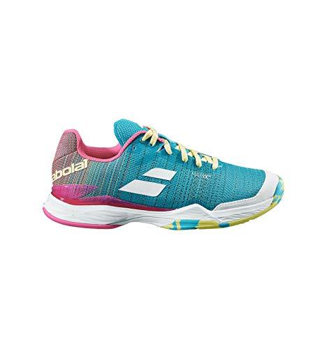 Babolat Damen Jet Match II Clay Schuhe türkis/gelb/rosa PE 2020, blau, 36.5 EU