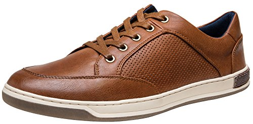 JOUSEN Men's Sneakers Classic Retro Casual Shoes for Men Breathable Business Dress Sneaker (A81Q07 Yellow Brown 10.5)