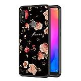 Eouine Xiaomi Mi A2 Lite Case, Phone Case Silicone Black with Pattern Ultra Slim Shockproof Soft Gel Back Cover Protective Bumper Skin for Xiaomi Mi A2 Lite Smartphone (Flowers)
