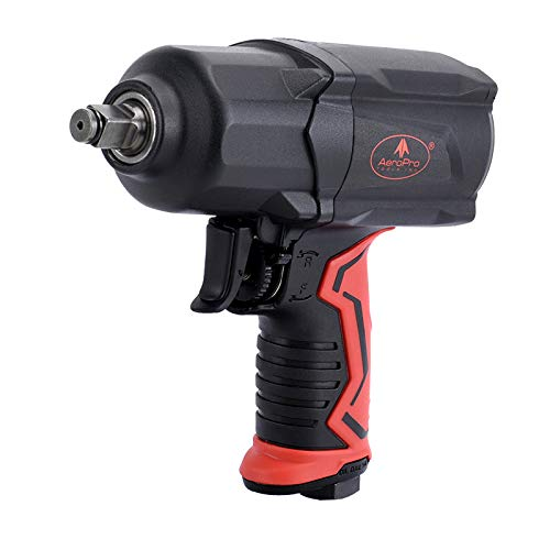 AEROPRO TOOLS 1/2-Inch Composite Air Impact Wrench(A301),Twin Hammer with 1000FT-LB Super Torque