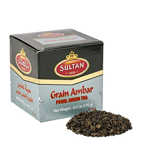 TÉ SULTAN Ambar marroquí té verde suelto, tés de hierbas 170g (Paquete individual - 170g)